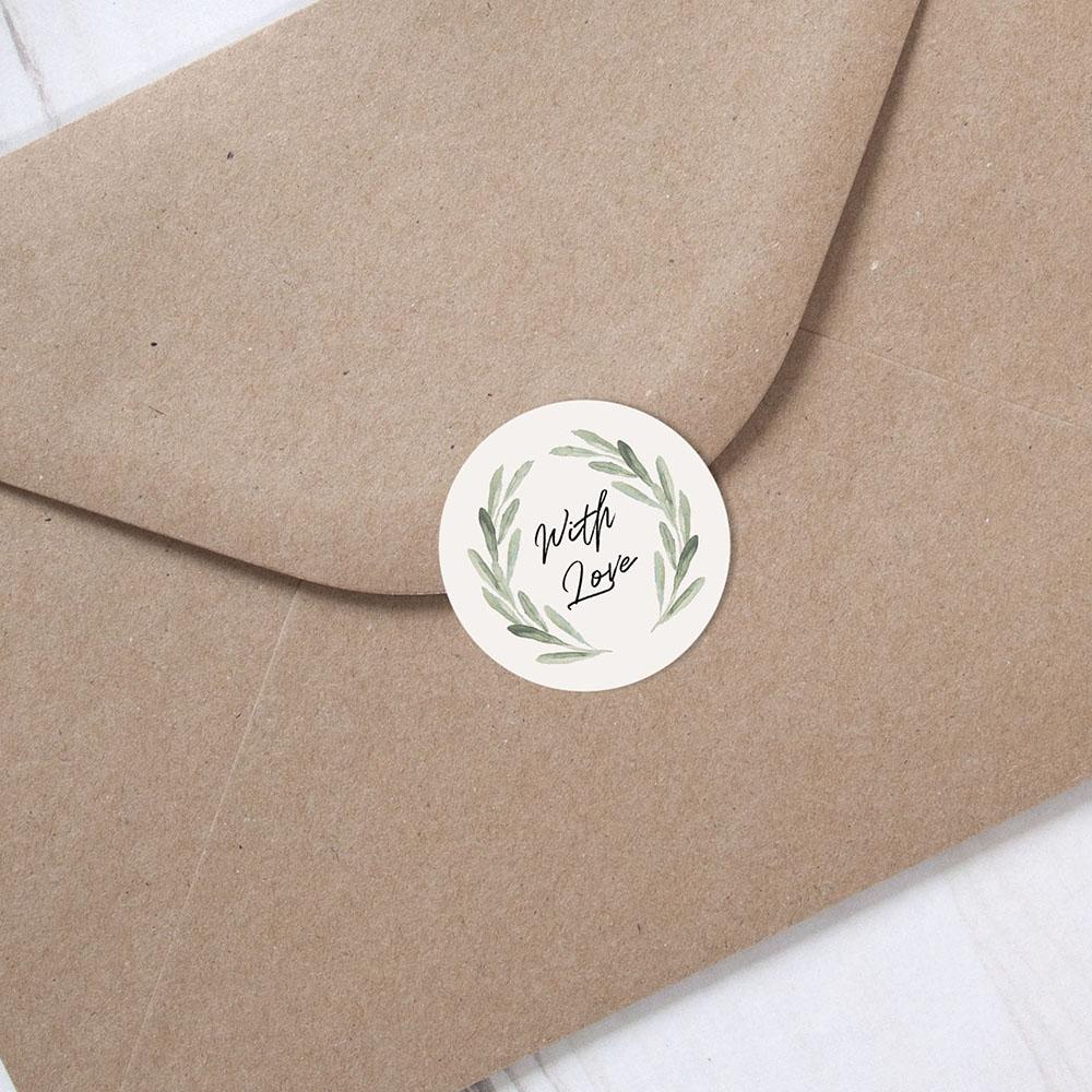 'Olive' Folded Invite