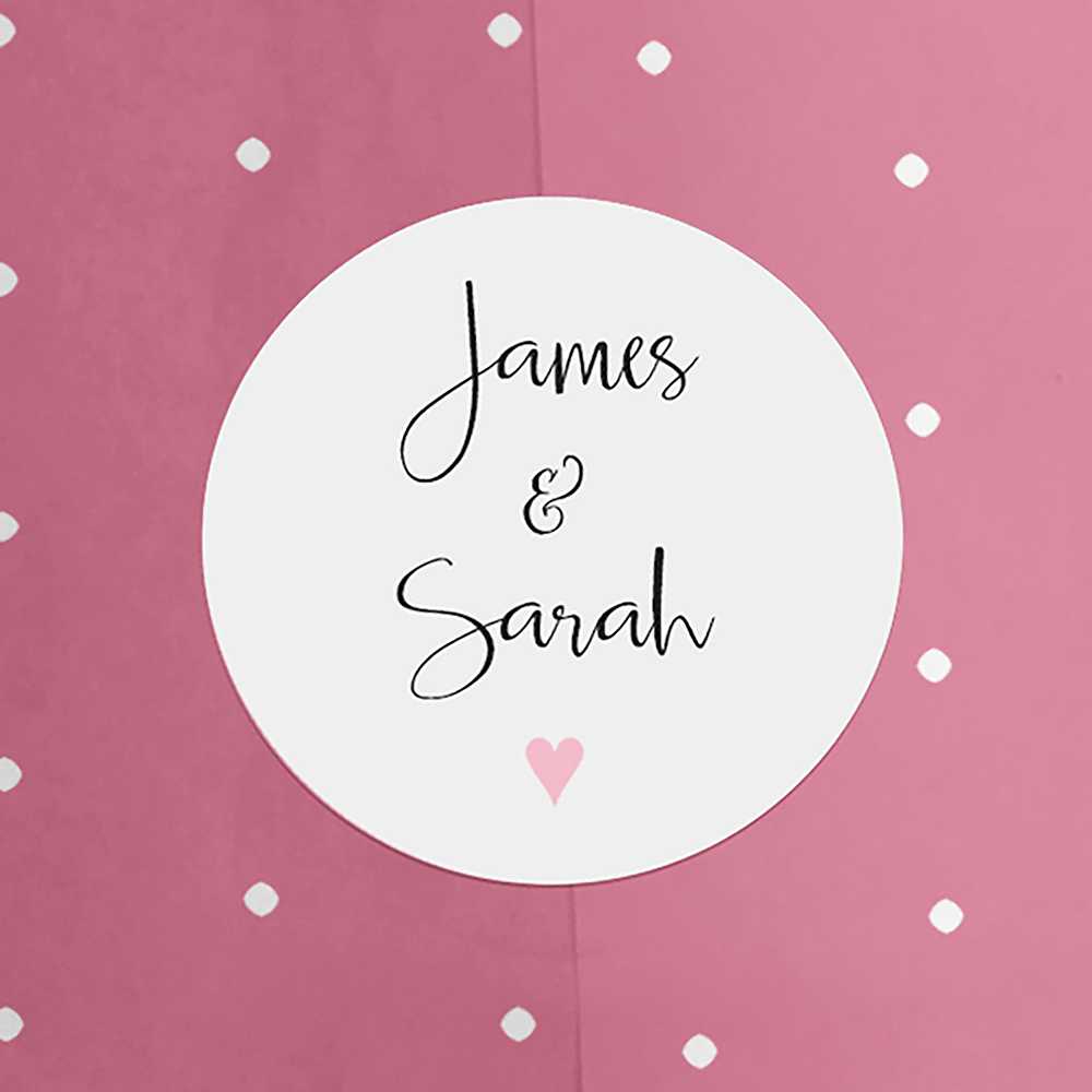 'Pink Heart Bunting' Hole-punched Invite