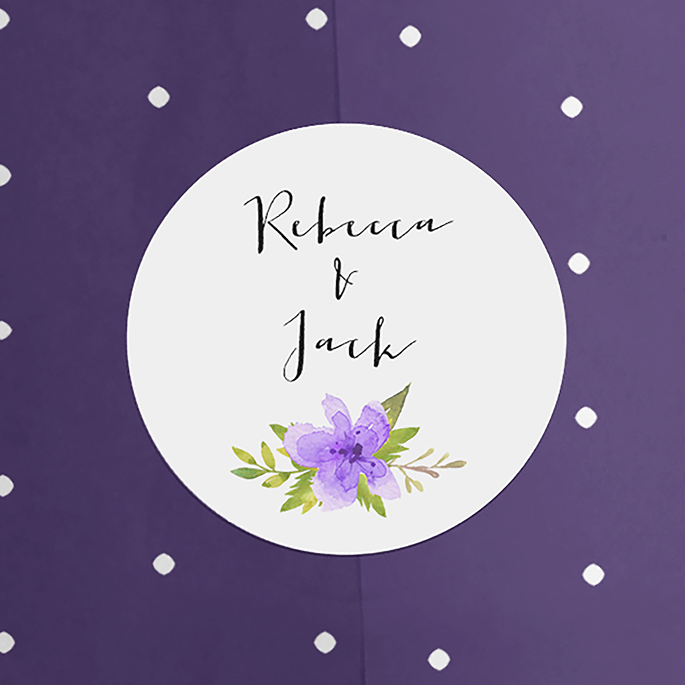 'Pretty in Purple' Hole-punched Invite