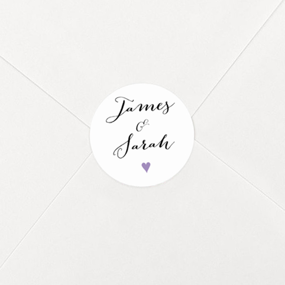 Pack of 'Purple Heart' Stickers