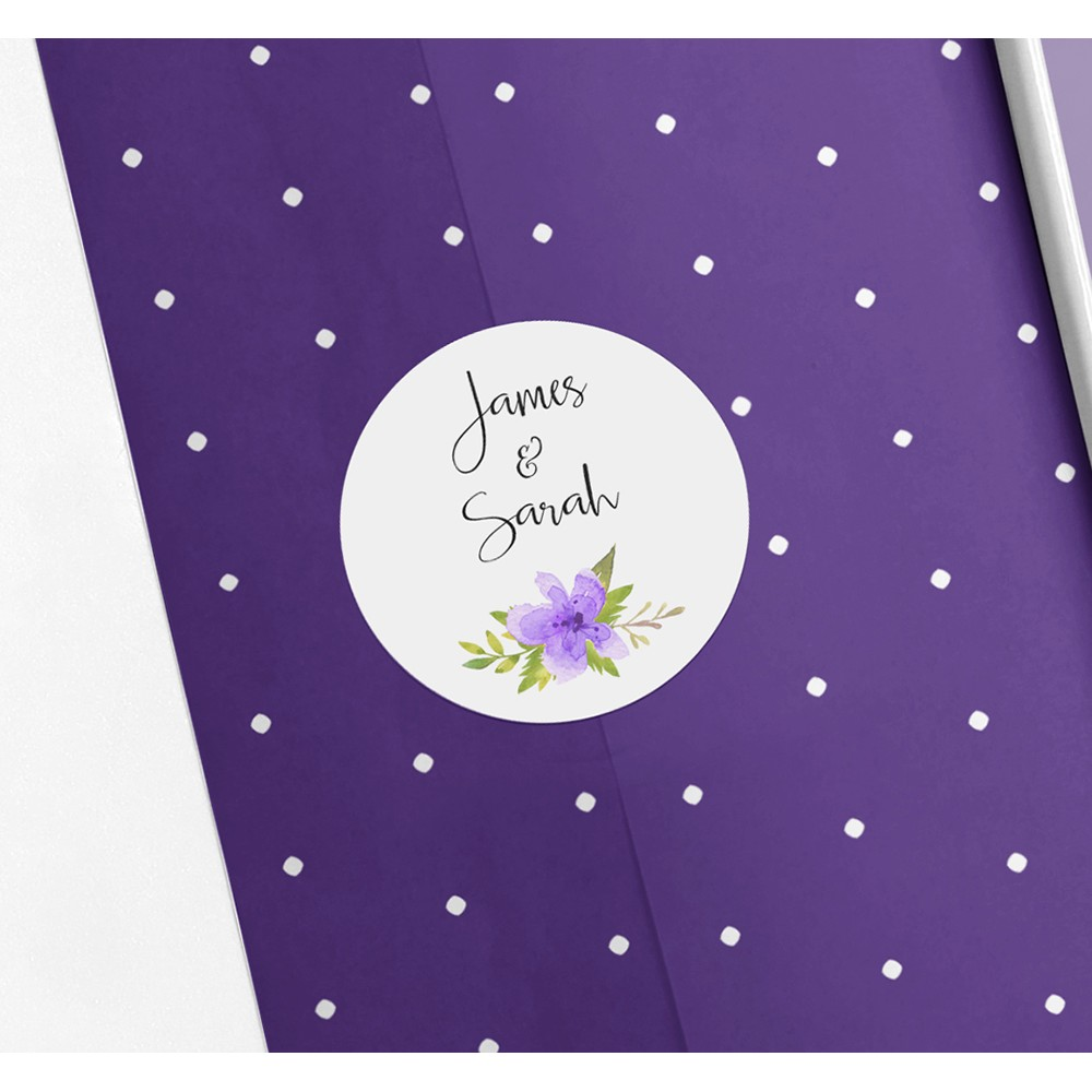 Pack of 'Purple Multi Floral' Stickers