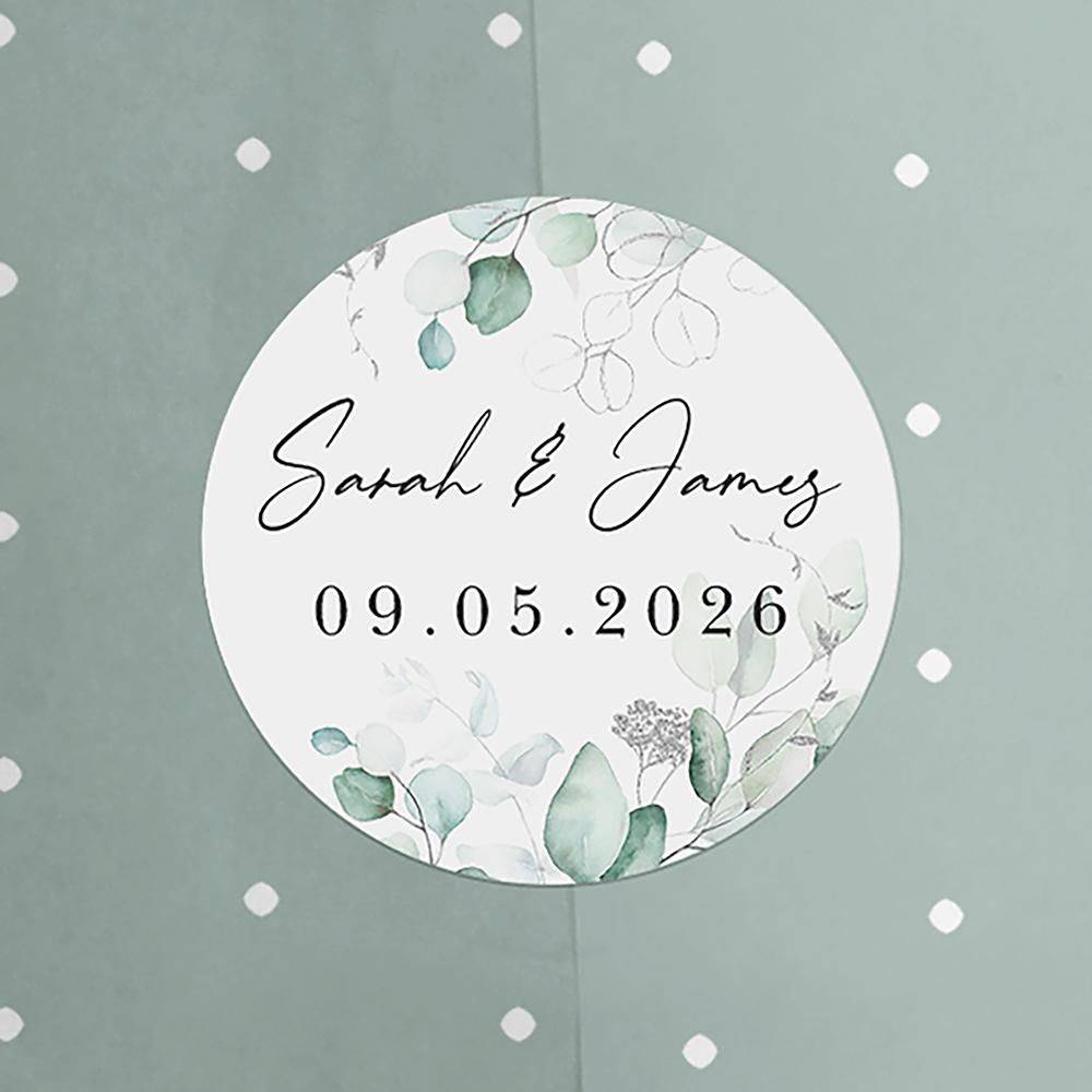 'Silver Eucalyptus' Standard Wedding Invitation