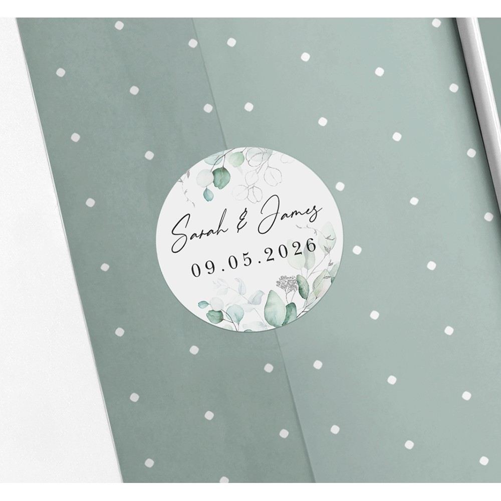 Pack of 'Silver Eucalyptus' Stickers