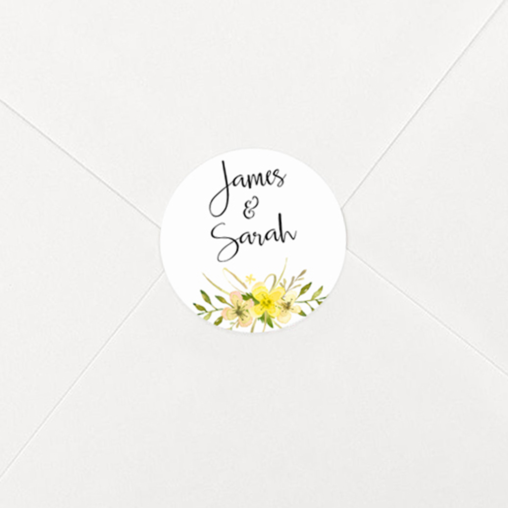 Pack of 'Yellow Multi Floral' Stickers