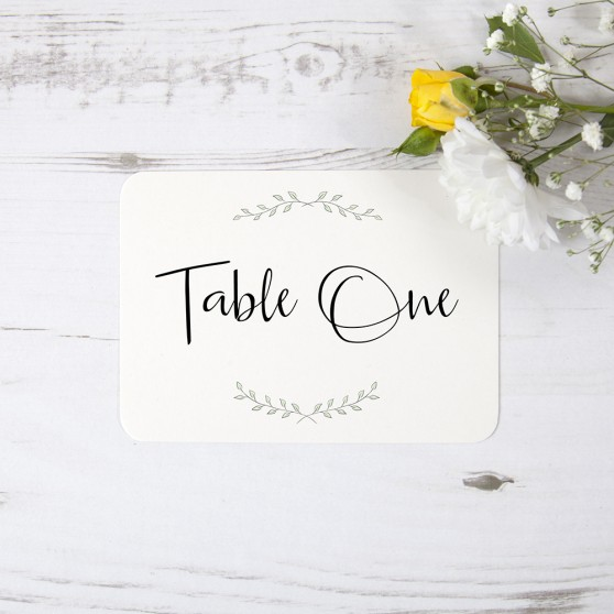 'Green Plant' Table Name/Number