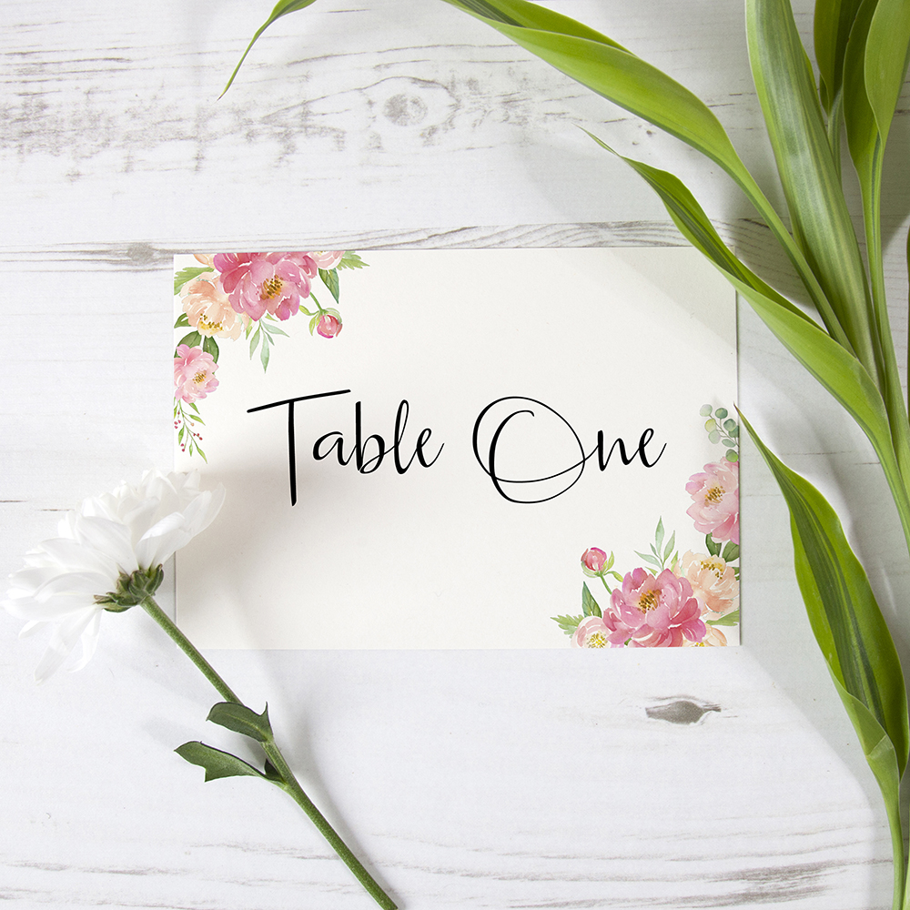 'Peony' Table Name/Number