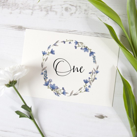 'Pretty in Blue' Table Name/Number