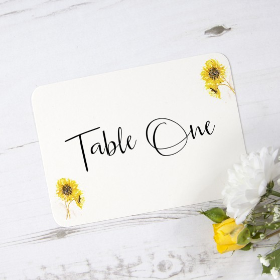 'Sunflower' Table Name/Number