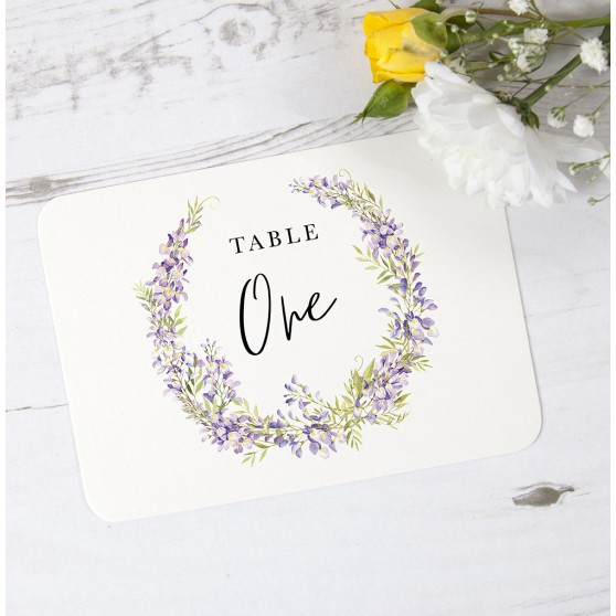 'Wisteria' Table Name/Number