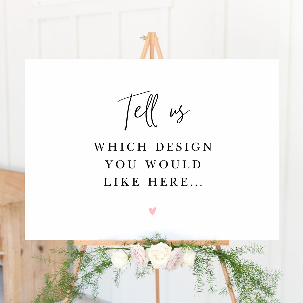 'Any Design' Large White Table Plan A2/A1