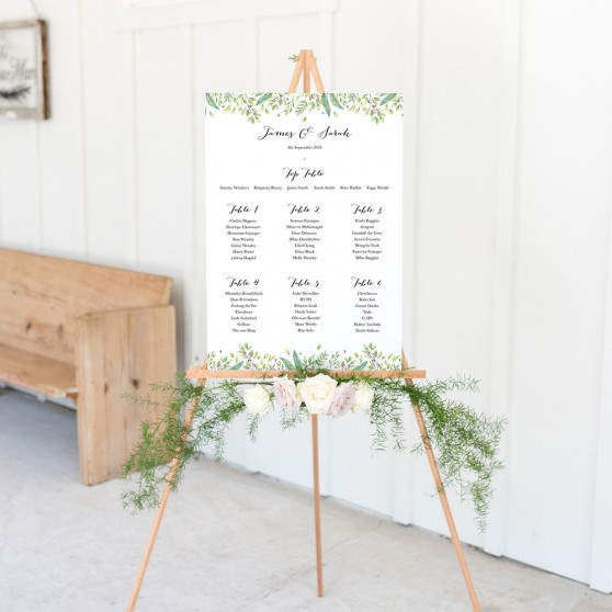 'Imogen' A3 Table Plan