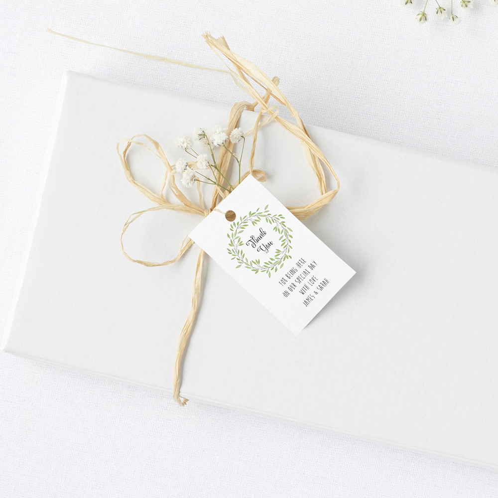 'Autumn Green' Favour Tags