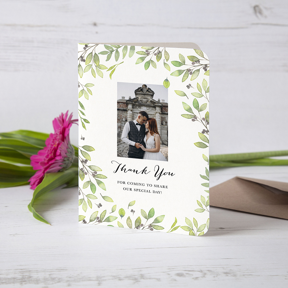 'Arabella' Folded Photo Thank You Card