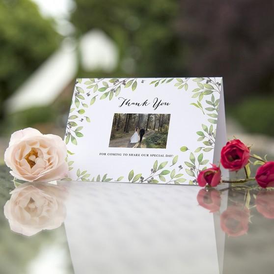 'Arabella' Folded Photo Thank You Card