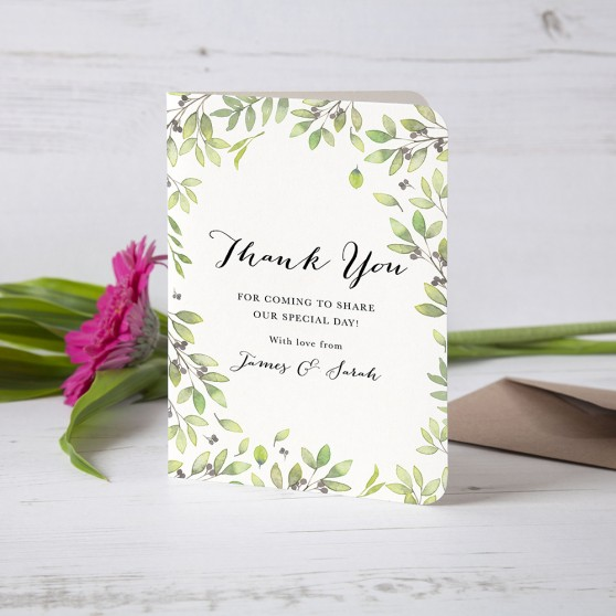 'Arabella' Folded Thank You Card