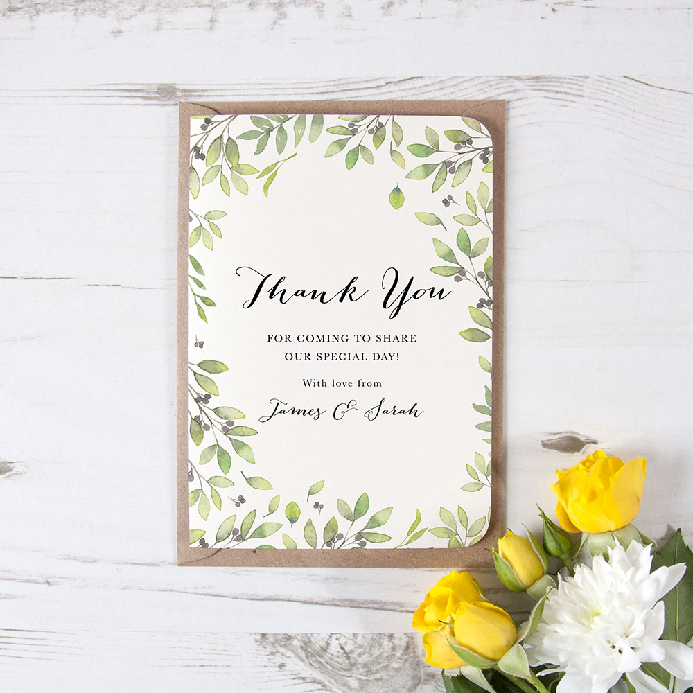 'Arabella' Folded Thank You Card