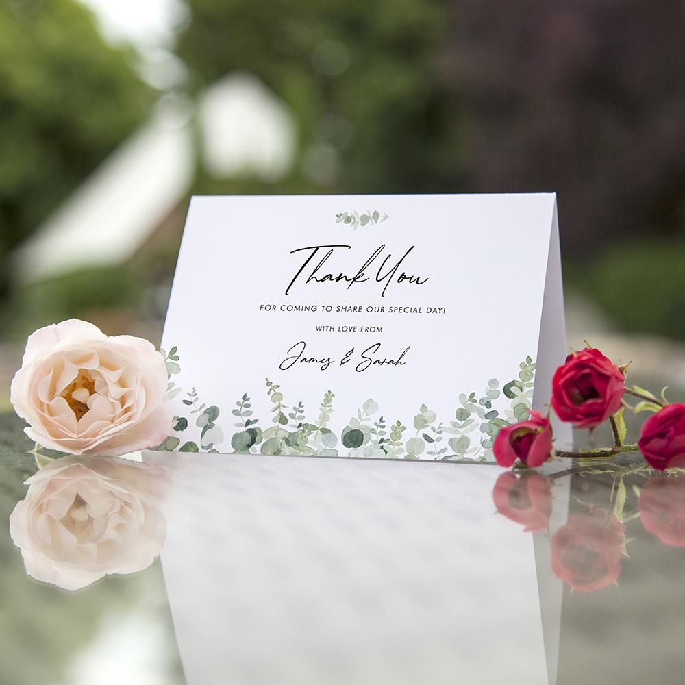 'Classic Eucalyptus' Folded Thank You Card