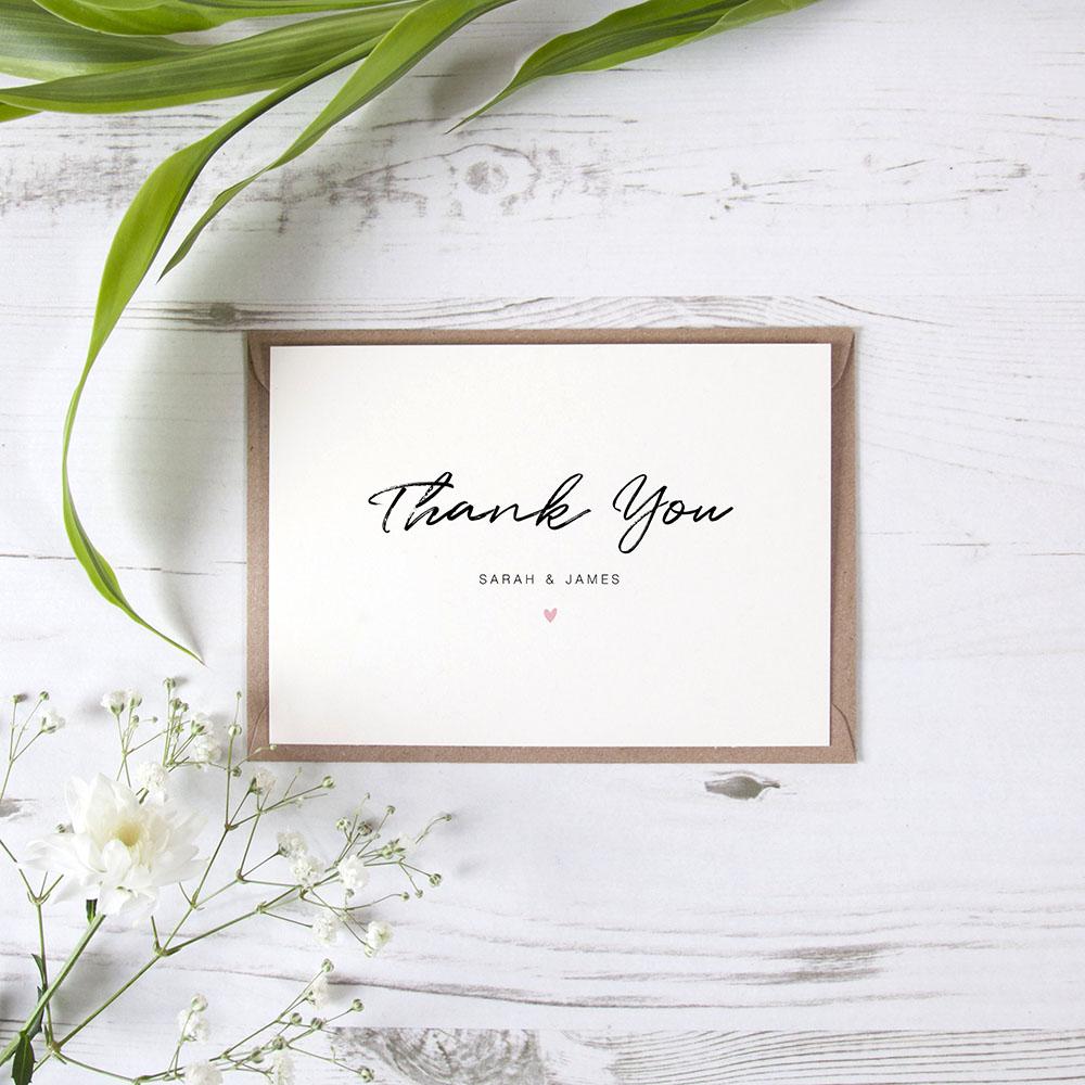 'Amanda' Standard Thank You Card