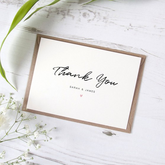 'Amanda' Standard Thank You Card
