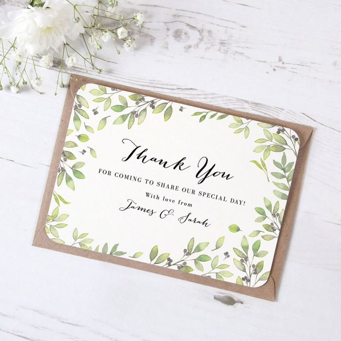 'Arabella' Standard Thank You Card