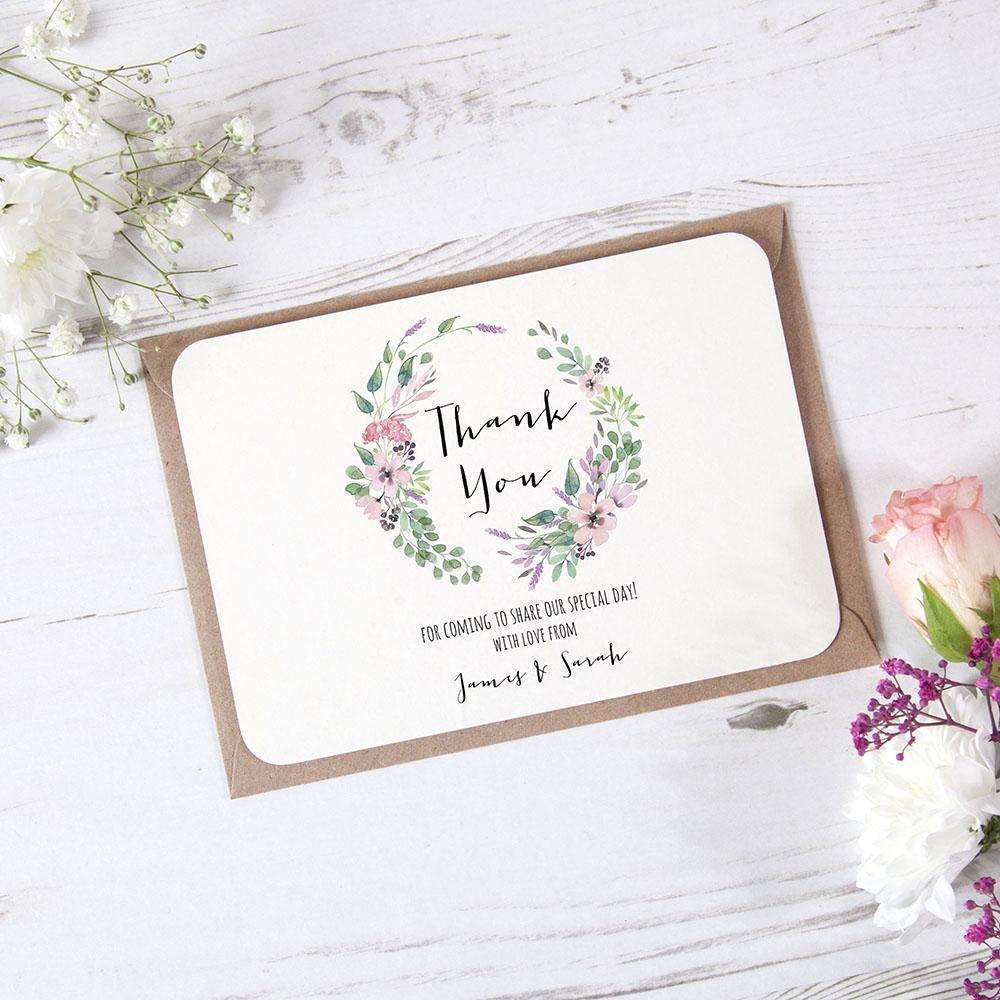 'Chloe' Standard Thank You Card