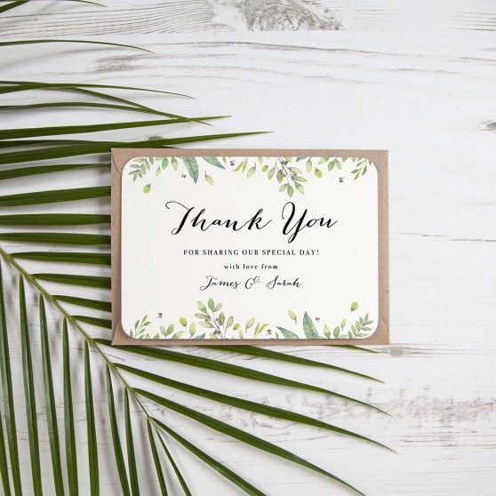 'Imogen' Standard Thank You Card