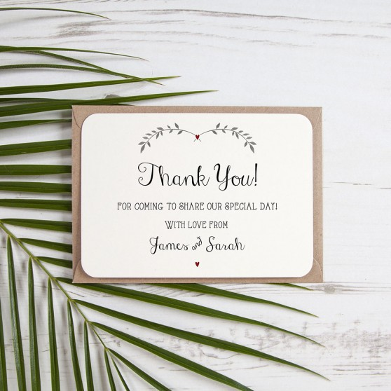 'Red Ivy Design' Standard Thank You Card